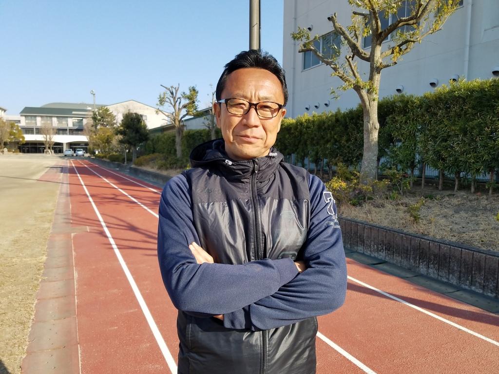 静岡県浜松市立高等学校陸上競技部 杉井将彦監督