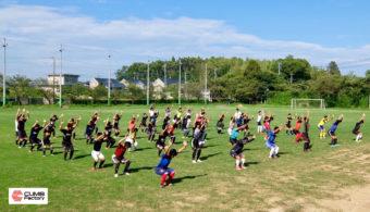 練習をする千葉黎明高等学校サッカー部