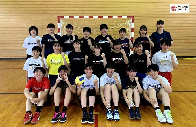 松韻学園福島高等学校 女子ハンドボール部_集合写真