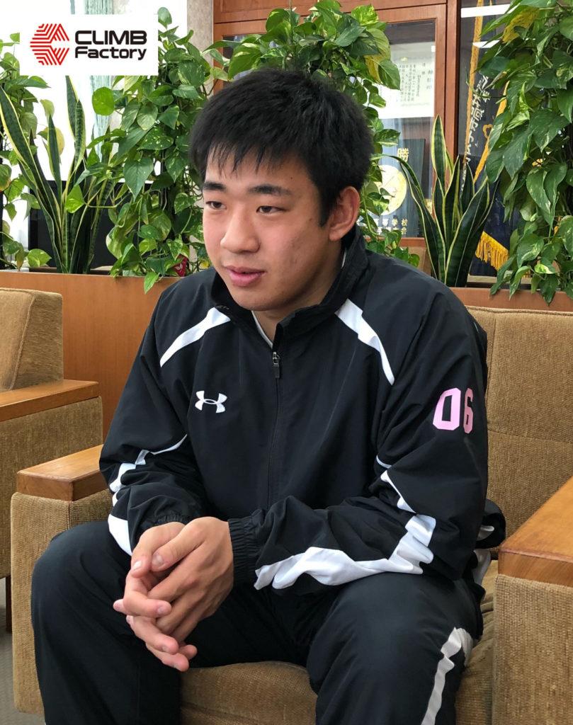桐生第一高校ラグビー部新井穂選手