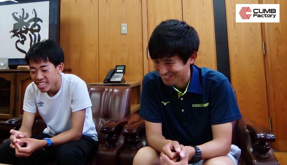 水戸葵陵高等学校駅伝部監督・澤野 敦氏と片岡龍聖選手