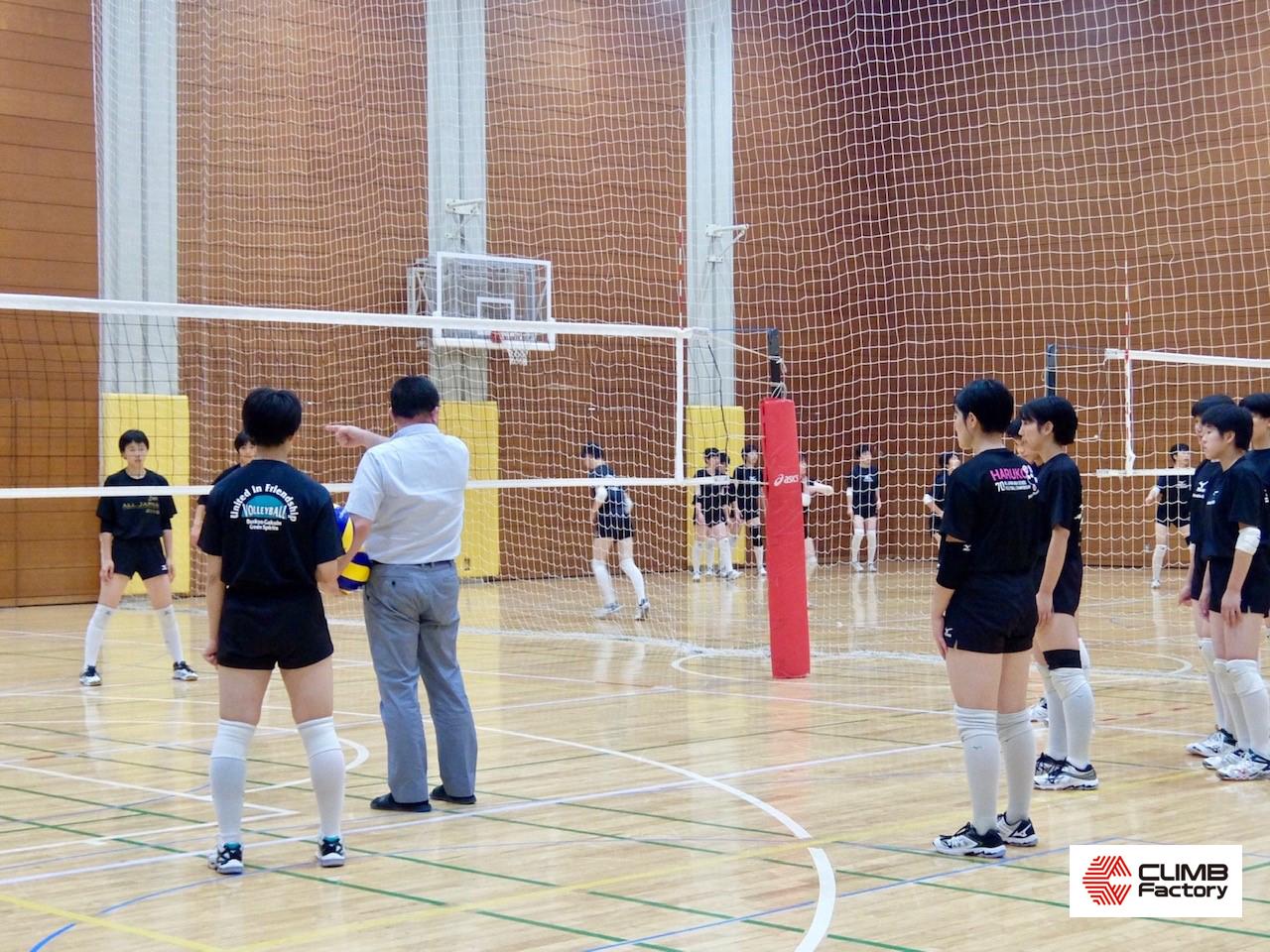 文京学院大学女子高等学校女子バレーボール部練習風景